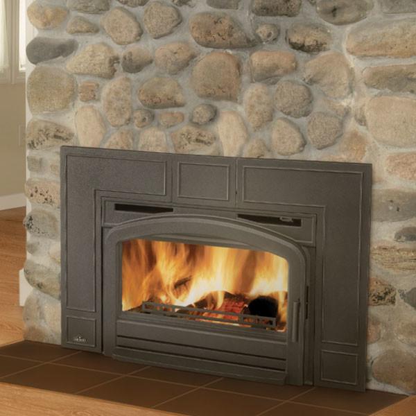 Epi3t Napoleon Traditional Flush Front Minimum Wood Burning Insert Modern Fireplace