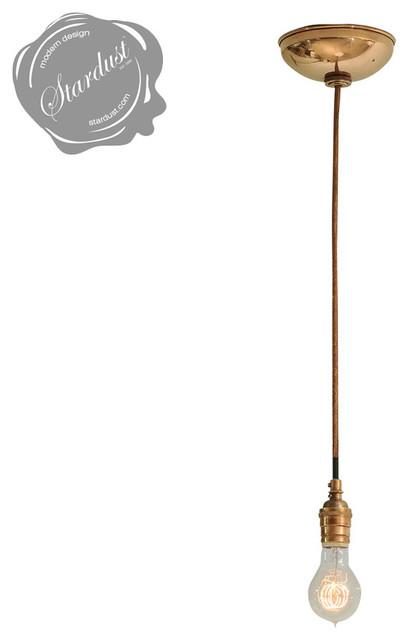 Classic Edison Style Pendant Light Fixture With Copper