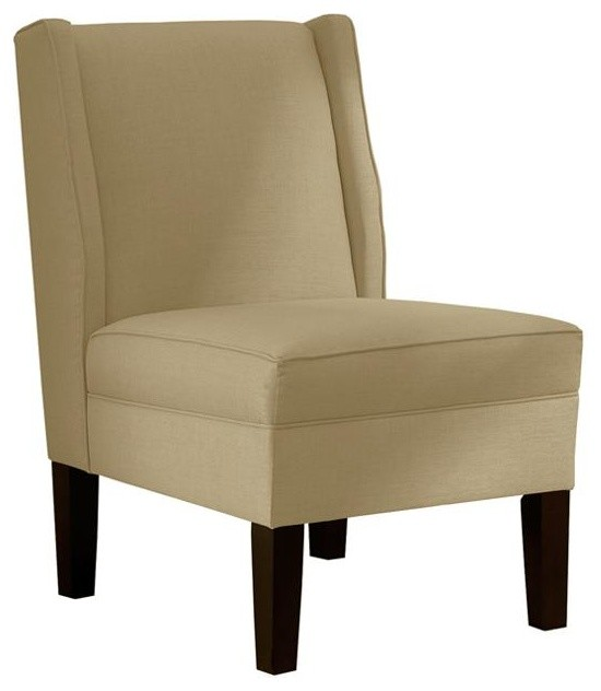 Custom Eaton Armless Wingback Chair - Traditional ...