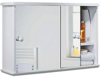 Sliding door bathroom cabinet white modern bathroom for Bathroom cabinets homebase