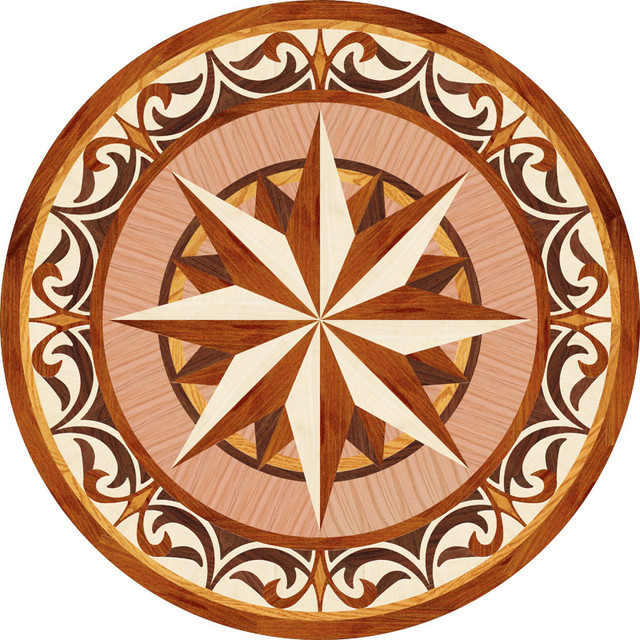 Floor Medallions Inlays : Wood inlays collection floor medallions and