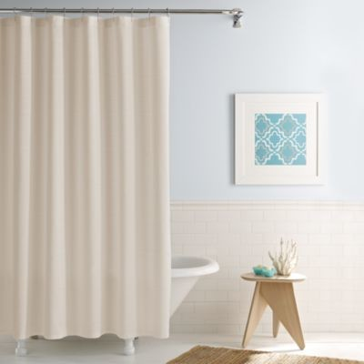 Real Simple Shower Curtain in Linear Stone Contemporary