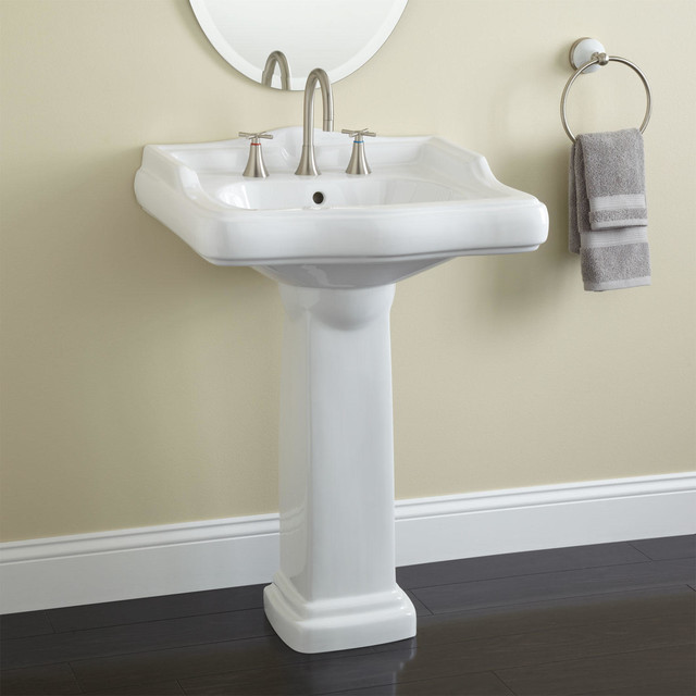 Pedestal Sink Faucet : Dawes Pedestal Sink traditional-bathroom-sinks