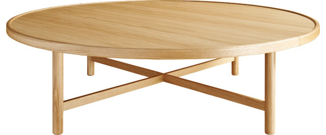 Etta grande table basse ronde modern coffee tables by habitat officiel - Table basse ronde pivotante ...