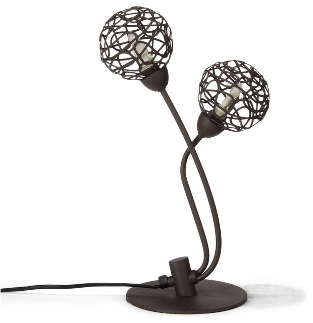 virgo lampe poser 2 lumi res marron oxyde industriel lampe poser par alin a mobilier. Black Bedroom Furniture Sets. Home Design Ideas