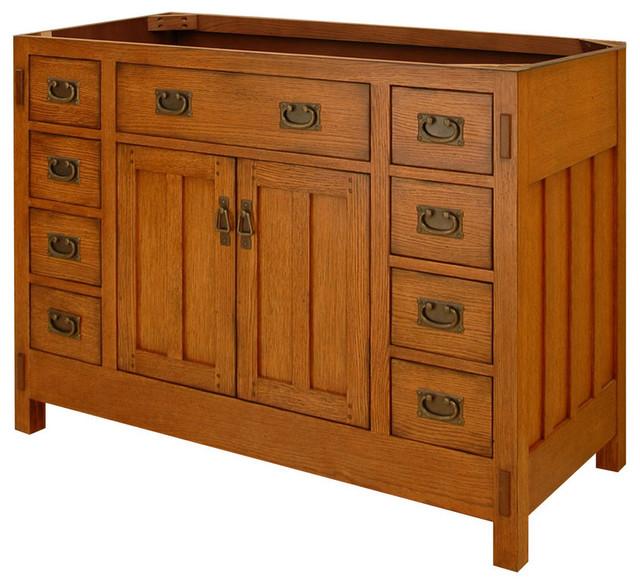 Sagehill Designs Ac4821d American Craftsman 48 Oak Wood