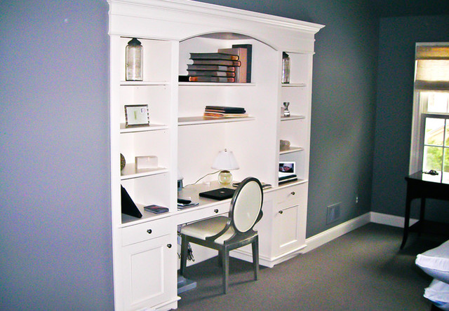 Custom Built In Desk For Bedroom Traditional Storage