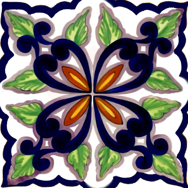 Pretty Point Backsplash Artistic Tiles - Mediterranean ...