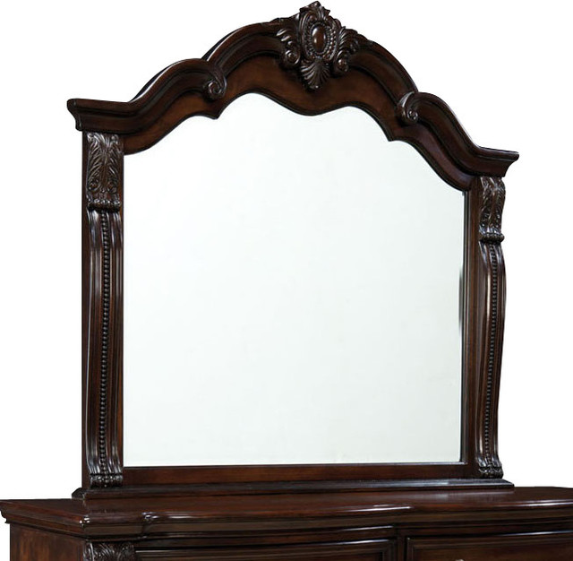 Standard Furniture Churchill Arched Mirror In Antique
