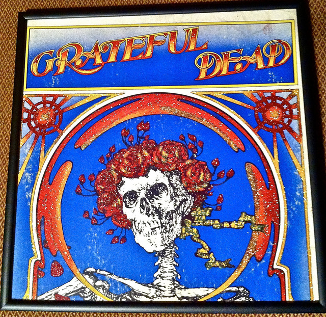 Glittered Grateful Dead Record Album - Eclectic - Artwork - by mmm designs