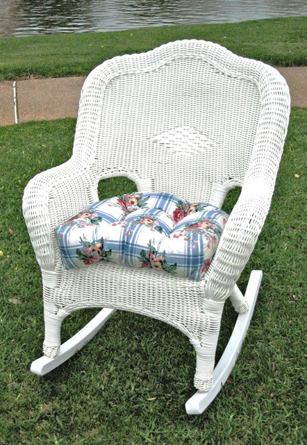 wicker resin steel patio rocking chair white contemporary outdoor rocking chairs by. Black Bedroom Furniture Sets. Home Design Ideas