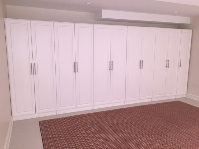Basement Closet Storage Contemporary Basement Other Metro By Mckee Closet Organizing