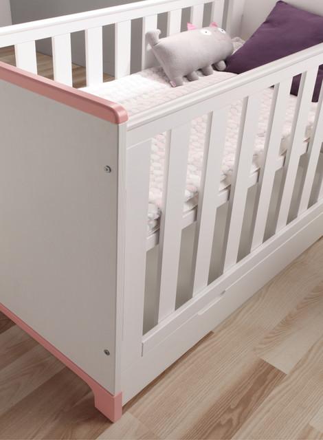 babybett mini wei rosa. Black Bedroom Furniture Sets. Home Design Ideas