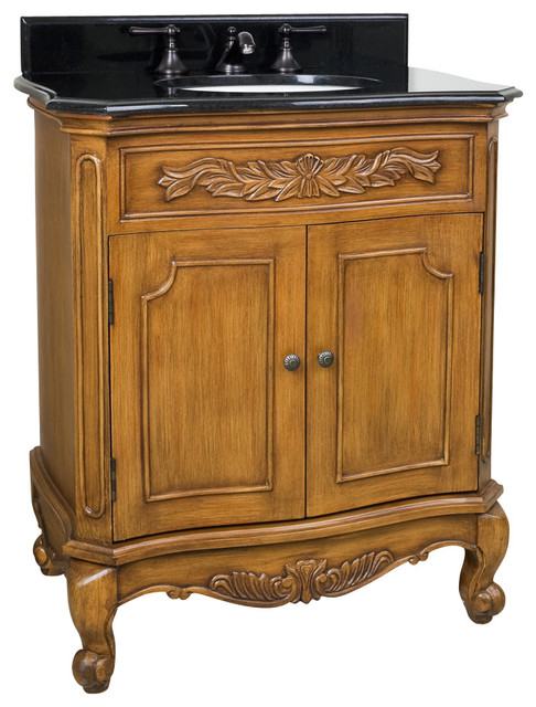Lyn Design VAN060 T Warm Caramel Traditional Bathroom Vanities And Sink