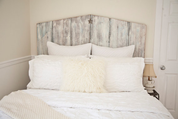 The Queen Tricia Reclaimed Barnwood Headboard by The Lake ...