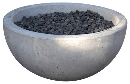 Potted deep wok fire pit contemporaneo bracieri da for Giardino wok