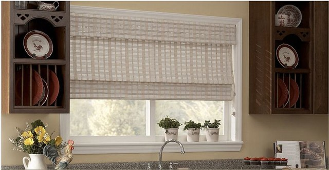 kitchen blinds ideas woven wood shades bamboo blinds kitchen ideas window
