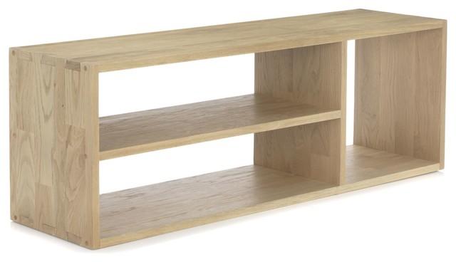 ... meuble TV en chêne massif contemporain-solution-media-et-meuble-tv