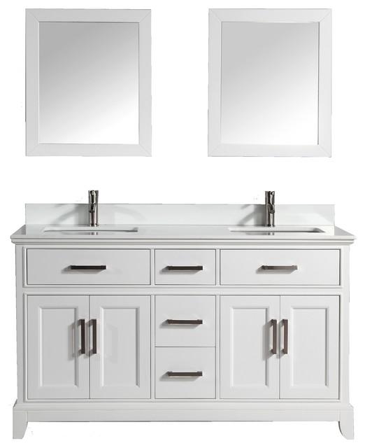 """Vanity Art 72"""" Bathroom Vanity Set With White Phoenix"""