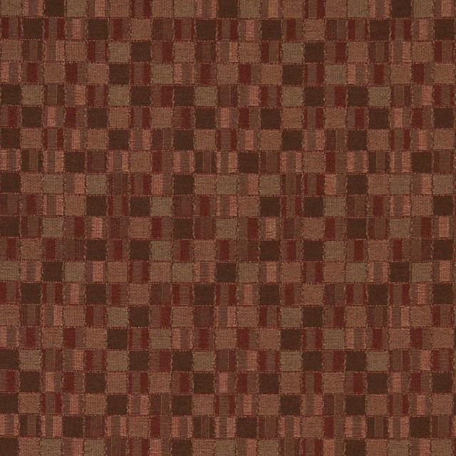 Burgundy Small Scale Geometric Box Contract Grade