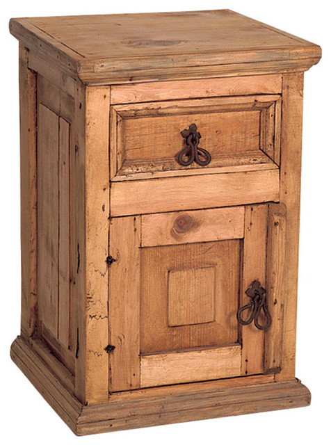 Country rustic pine nightstand rustic nightstands and for Rustic nightstands