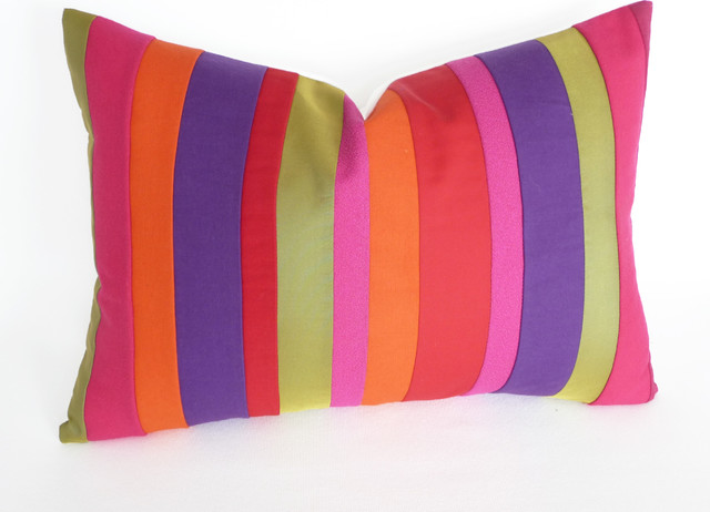 Bold Bright Color Block Pillow Modern Decorative