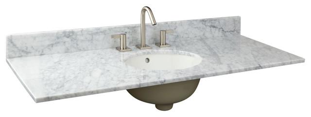 Narrow Depth Marble Vanity Top For Undermount Sink Traditional Bathroom Vanities
