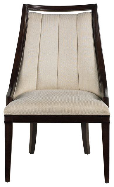 Continuum Upholstered Wood Frame Chair Transitional Dining Chairs
