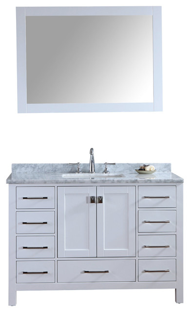 bella white bathroom vanity and mirror transitional bathroom vanities and sink consoles by