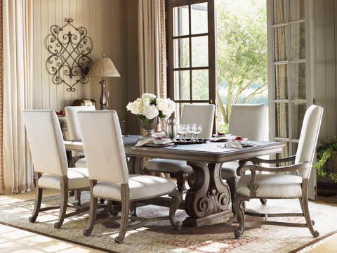 La Tourelle Dining Room Set Eclectic Dining Tables