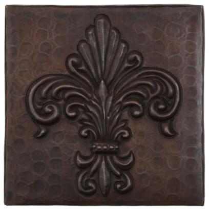 Fernale Fleur De Lis Design Copper Tile Traditional