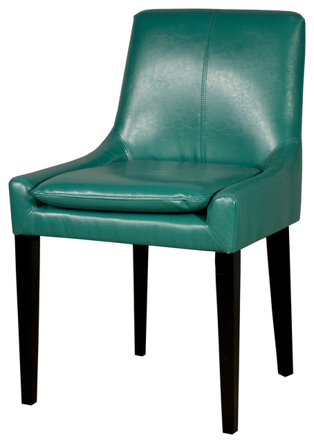 Chase bonded leather chair turquoise contemporary dining chairs by new pacific direct inc - Turquoise upholstered dining chair ...
