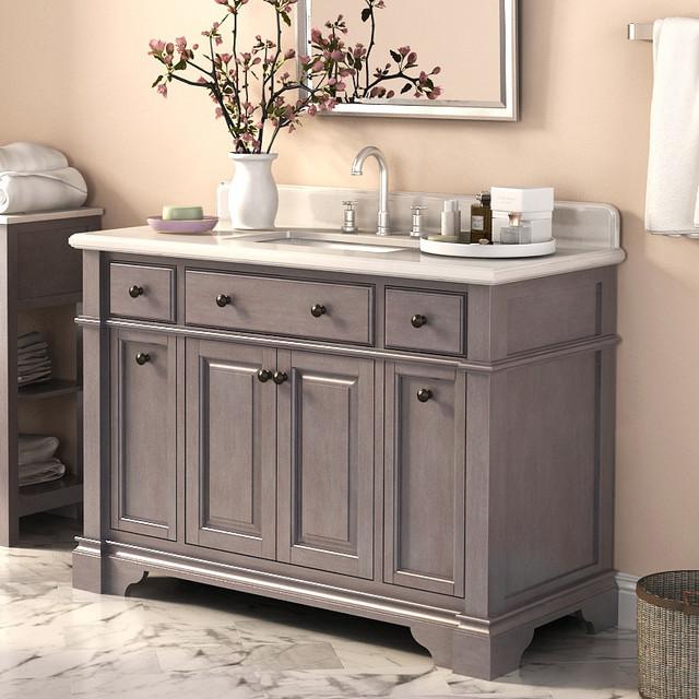 48 Inch Rustic Single Sink Bathroom Vanity Marble Top Rustic Bathroom Van