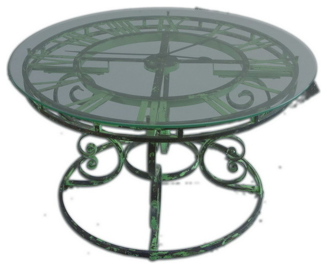 Uttermost 24349 Gilbertine Clock Table Transitional