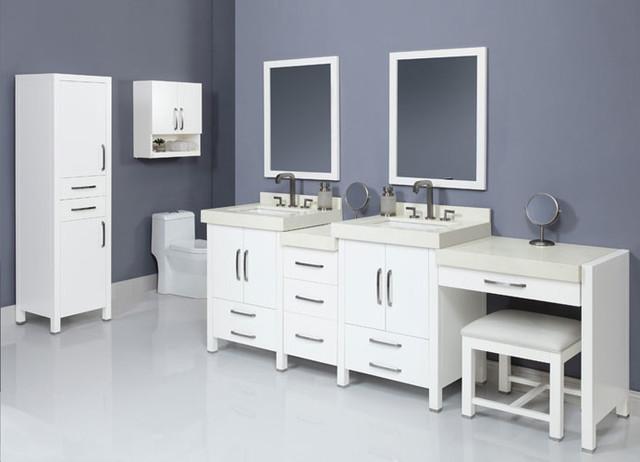 Modular bathroom vanities modern bathroom vanities and for Prefab vanity