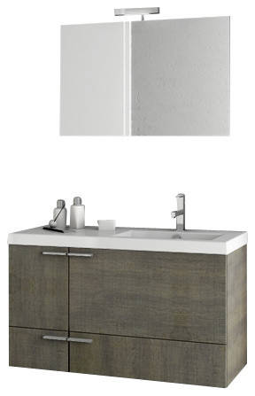 39 inch grey oak bathroom vanity set modern bathroom vanities and sink