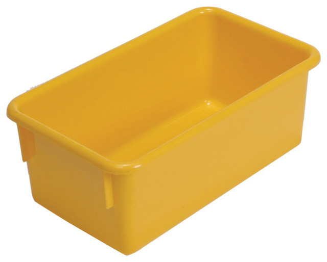 """Steffywood Home Plastic Storage Box Cabinet Yellow Tote Tray 13""""L X 8 ..."""