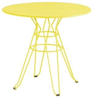 table de jardin design ronde d110 alameda couleur jaune. Black Bedroom Furniture Sets. Home Design Ideas