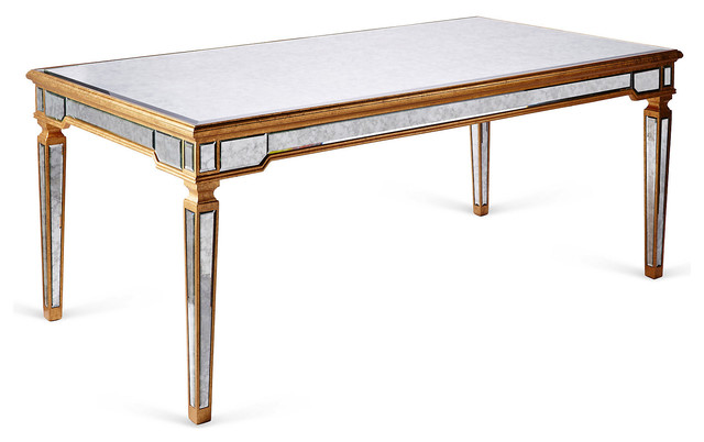 mirrored dining table gold contemporary dining tables