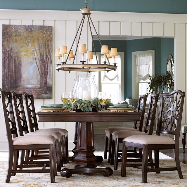 Bassett Dining Room Furniture: Moultrie Park Double Pedestal Dining Table By Bassett