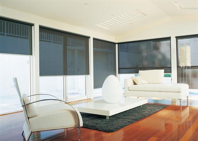 Solar Screen Shade Modern Sun Room Black Amp White