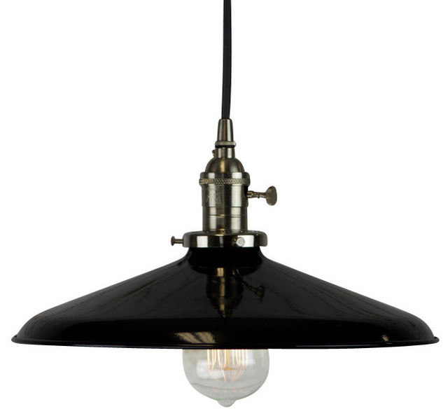 Pendant With Black Vintage Style Shade Industrial