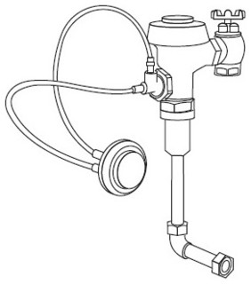 Commercial Toilet Parts : ... Valve with ADA Compliant Hydraulic - Modern - Bidet And Toilet Parts