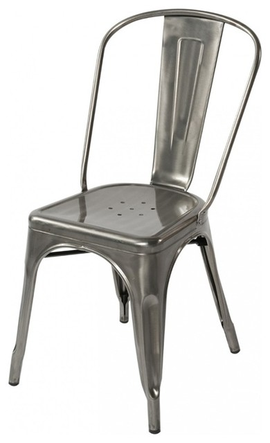 Tolix Style Metal Industrial Loft Chair Modern Dining Chairs By EModern
