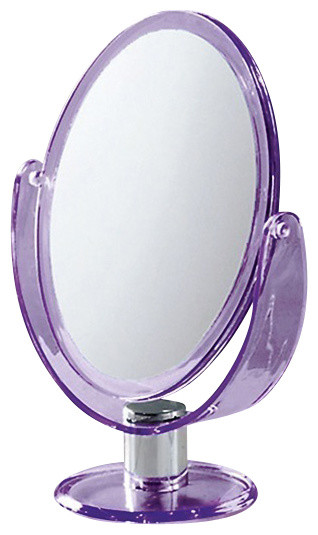 Trendy Free Standing Magnifying Two Faced Mirror Contemporary Makeup Mirrors By Thebathoutlet