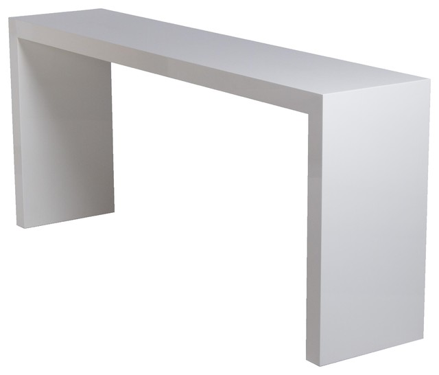 White lacquered console contemporary console tables for Modern white lacquer console table