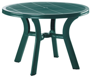 Truva Resin Round Dining Table 42 inch Green - Modern - Dining Tables