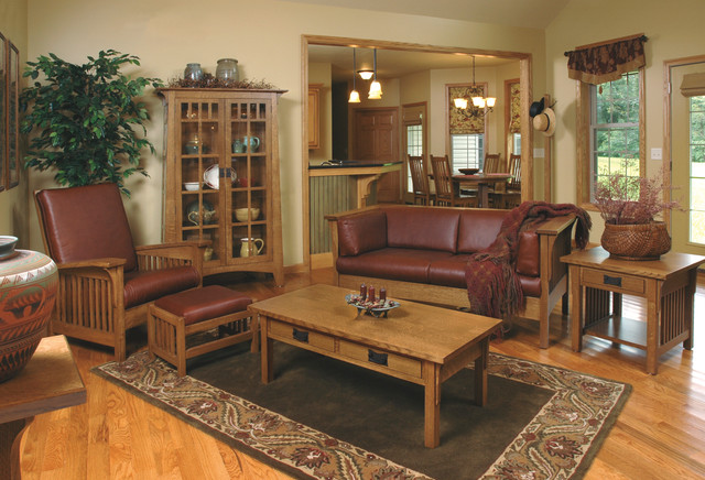 Mission Style White Oak Living Room Furniture Craftsman Living Room Furniture Sets