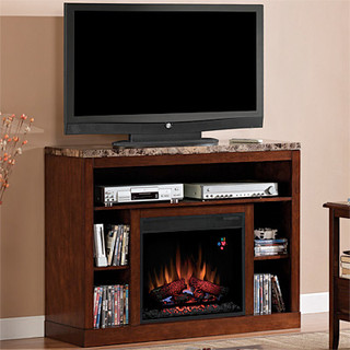 Adams Electric Fireplace Tv Stand In Empire Cherry 23mm1824 C244 Contemporary Indoor