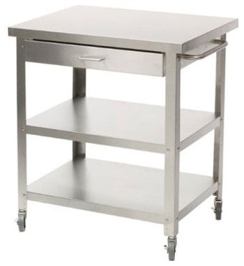Stainless Steel Kitchen Cart Without Top Modern Bar